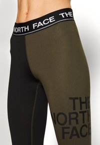 The North Face - WOMENS FLEX MID RISE - Leggings - black/new taupe green - 4