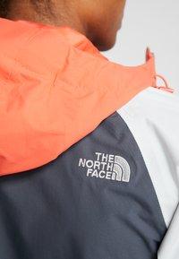 The North Face - STRATOS JACKET - Hardshell jacket - vanadis grey/tin grey/radiant orange - 6