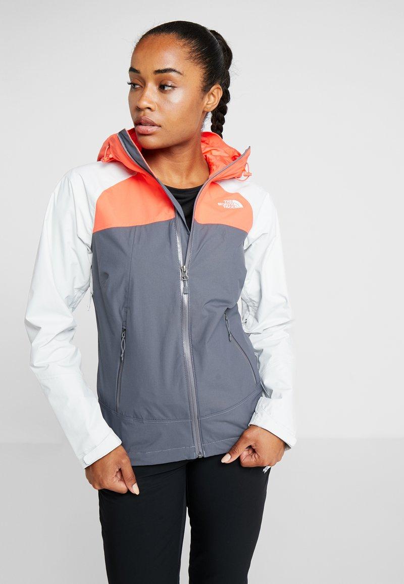 The North Face - STRATOS JACKET - Hardshell jacket - vanadis grey/tin grey/radiant orange