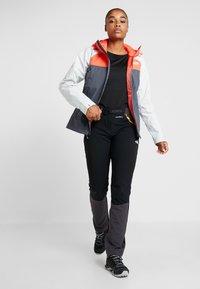 The North Face - STRATOS JACKET - Hardshell jacket - vanadis grey/tin grey/radiant orange - 1