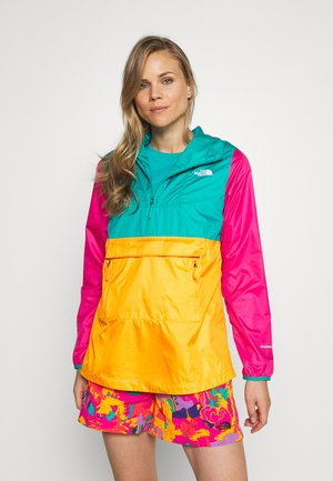 WOMENS FANORAK - Windbreaker - flame orange/jaiden green/mr pink