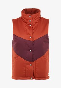 The North Face - SYLVESTER VEST - Waistcoat - picante red/deep garnet red - 4
