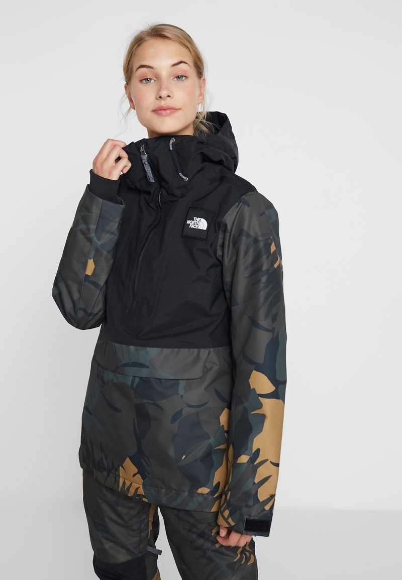 The North Face - TANAGER JACKET - Giacca hard shell - tnf black/new taupe green palms print