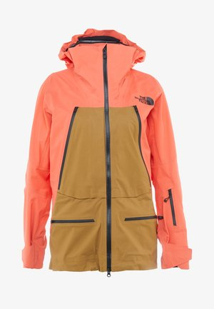 W PURIST FutureLight™ JACKET - Ski jacket - radiant orange/british khaki