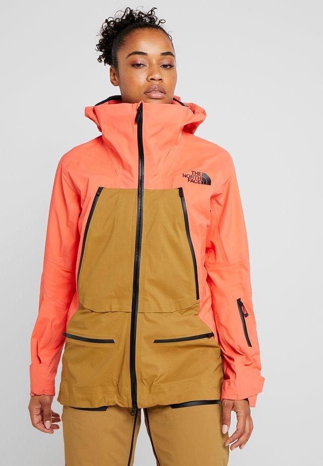 W PURIST FutureLight™ JACKET - Chaqueta de esquí - radiant orange/british khaki