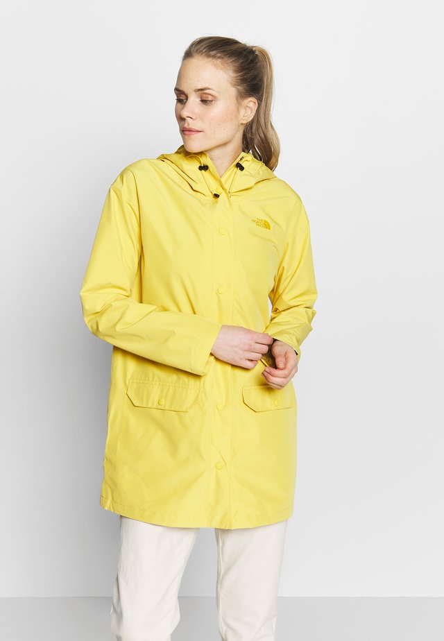 WOMENS WOODMONT RAIN JACKET - Kurtka hardshell - bamboo yellow