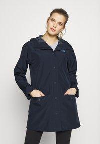 The North Face - WOMENS WOODMONT RAIN JACKET - Hardshell jacket - urban navy - 0