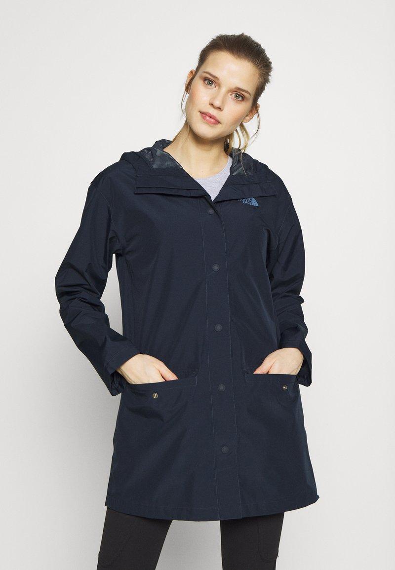 The North Face - WOMENS WOODMONT RAIN JACKET - Hardshell jacket - urban navy