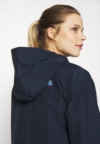 The North Face - WOMENS WOODMONT RAIN JACKET - Hardshell jacket - urban navy - 5