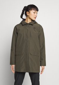 The North Face - WOMENS WOODMONT RAIN JACKET - Hardshell jacket - new taupe green - 0
