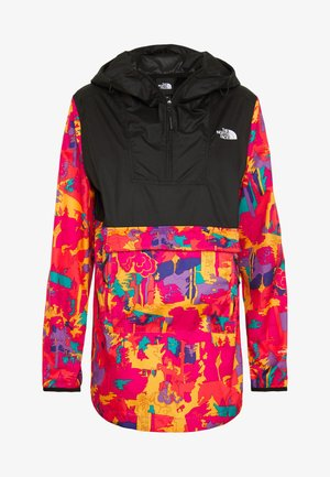 WOMENS PRINTED FANORAK - Outdoor jacket - mr pink/black