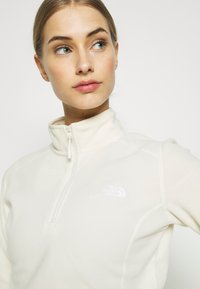 The North Face - WOMENS 100 GLACIER 1/4 ZIP - Fleece jumper - vintage white - 3