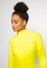 The North Face - WOMENS 100 GLACIER 1/4 ZIP - Fleece trui - lemon - 4