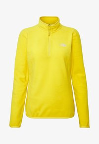 The North Face - WOMENS 100 GLACIER 1/4 ZIP - Fleece trui - lemon