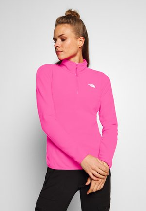 WOMENS 100 GLACIER 1/4 ZIP - Felpa in pile - mr pink