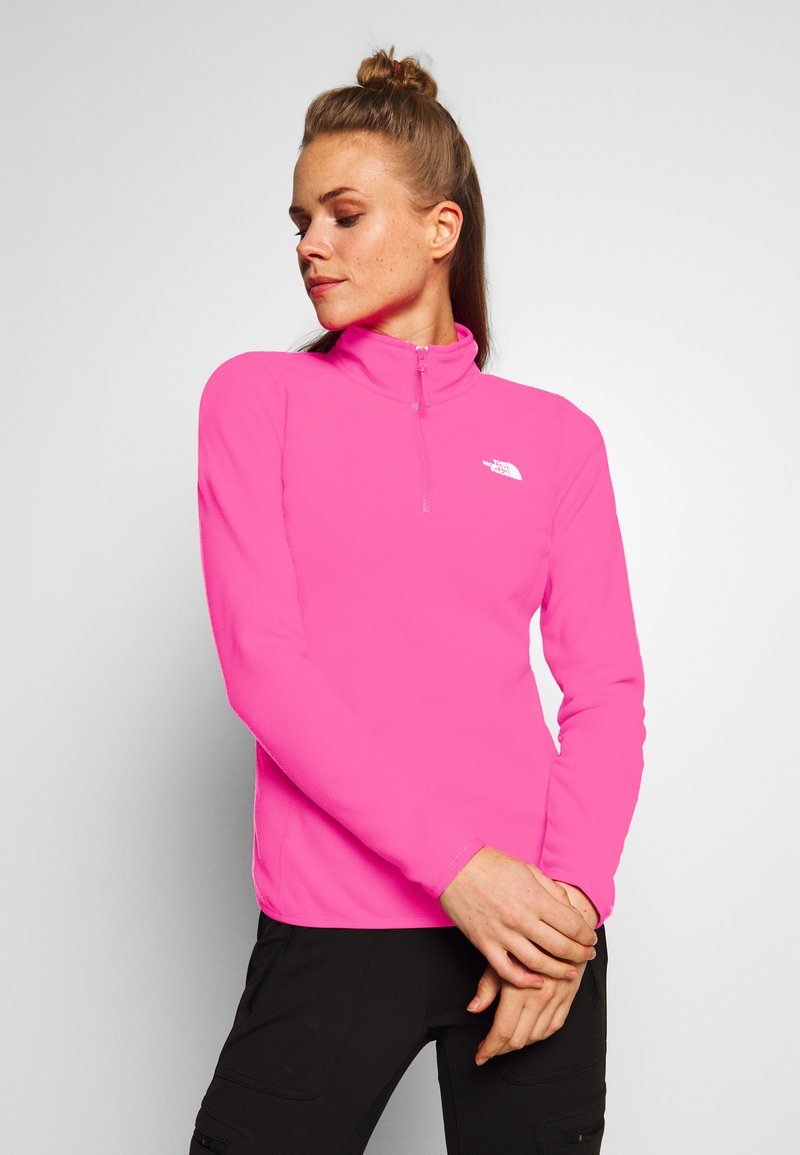 The North Face - WOMENS 100 GLACIER 1/4 ZIP - Bluza z polaru - mr pink