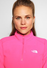 The North Face - WOMENS 100 GLACIER 1/4 ZIP - Bluza z polaru - mr pink - 3
