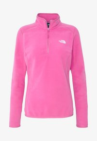 The North Face - WOMENS 100 GLACIER 1/4 ZIP - Bluza z polaru - mr pink - 4