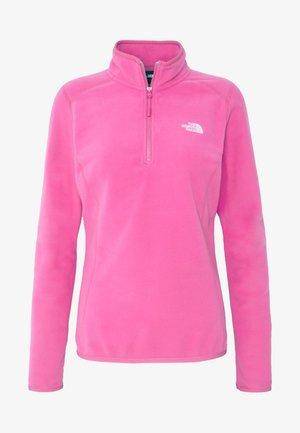 WOMENS 100 GLACIER 1/4 ZIP - Felpa in pile - mr pink
