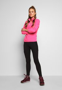 The North Face - WOMENS 100 GLACIER 1/4 ZIP - Bluza z polaru - mr pink - 1