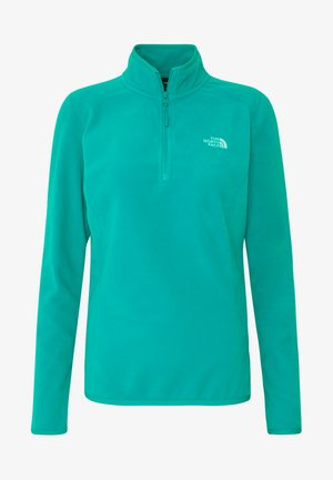 WOMENS 100 GLACIER 1/4 ZIP - Bluza z polaru - jaiden green