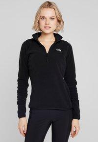 The North Face - WOMENS 100 GLACIER 1/4 ZIP - Fleece jumper - black - 0