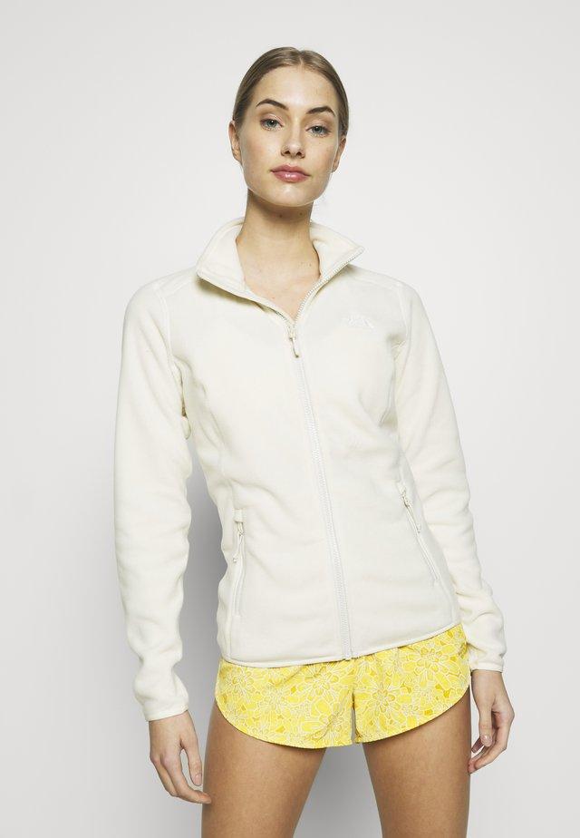 WOMENS GLACIER FULL ZIP - Fleecejacke - vintage white