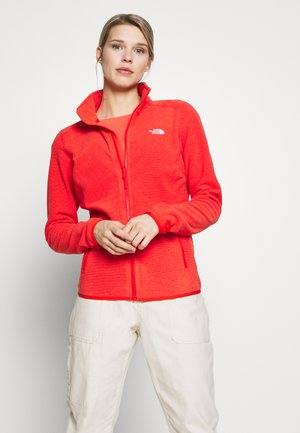 WOMENS GLACIER FULL ZIP - Fleecejas - cayenne red