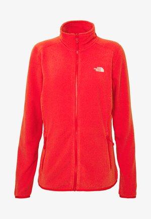 WOMENS GLACIER FULL ZIP - Fleece jacket - cayenne red