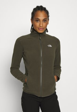 WOMENS GLACIER FULL ZIP - Fleecová bunda - new taupe green