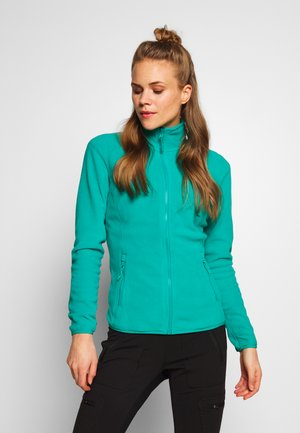 WOMENS GLACIER FULL ZIP - Fleecetakki - jaiden green