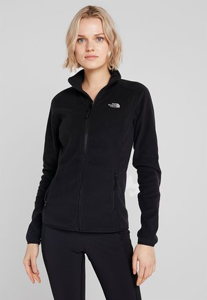 WOMENS GLACIER FULL ZIP - Fleecetakki - black