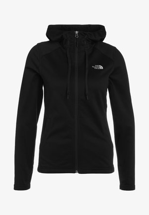 WOMENS TECH MEZZALUNA HOODIE - Fleecejas - black