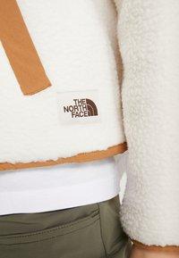 The North Face - CRAGMONT JACKET - Fleecetakki - vintage white/cedar brown - 5