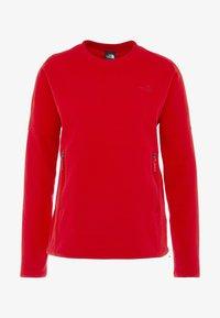 The North Face - GLACIER CREW - Bluza z polaru - fiery red - 5