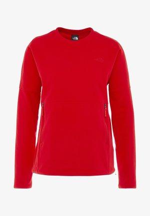 GLACIER CREW - Fleece trui - fiery red