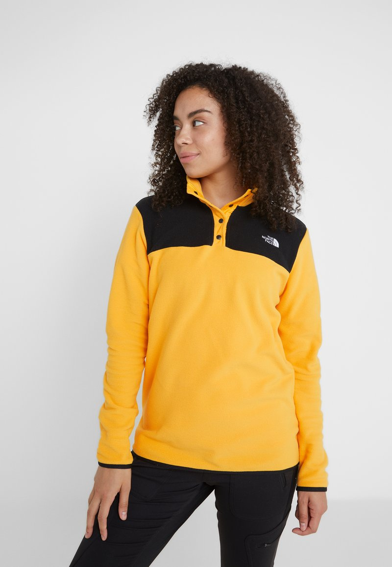 The North Face - GLACIER SNAP NECK  - Sweat polaire - yellow/black