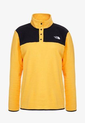 GLACIER SNAP NECK  - Fleece trui - yellow/black