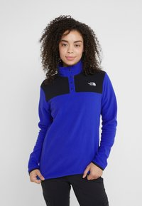 The North Face - GLACIER SNAP NECK  - Fleecetrøjer - blue/black - 0