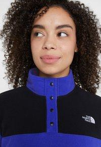 The North Face - GLACIER SNAP NECK  - Fleecepaita - blue/black - 3