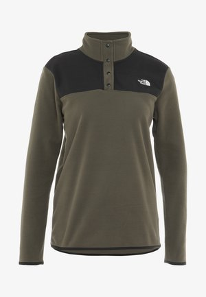 GLACIER SNAP NECK  - Fleece jumper - new taupe green/black