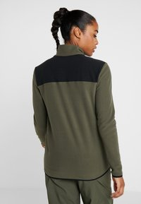 The North Face - GLACIER SNAP NECK  - Fleecepullover - new taupe green/black