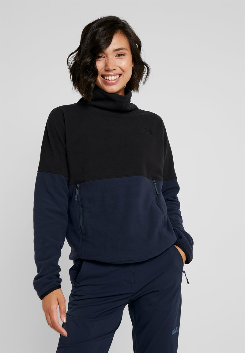 The North Face - GLACIER FUNNEL NECK - Fleece jumper - urban navy/black