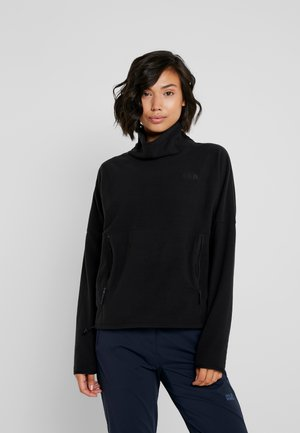 GLACIER FUNNEL NECK - Fleecepaita - black