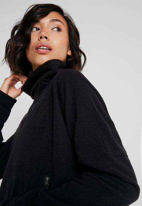 The North Face GLACIER FUNNEL NECK - Bluza z polaru - black Odzież Damska TYDY-WD8 dobra jakość