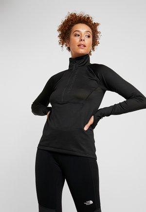 IMPENDOR ZIP - Koszulka sportowa - black