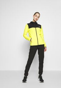 The North Face - WOMENS GLACIER FULL ZIP HOODIE - Fleecetakki - lemon/black - 1
