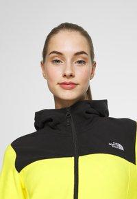 The North Face - WOMENS GLACIER FULL ZIP HOODIE - Fleecejas - lemon/black - 3