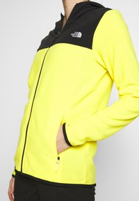 The North Face - WOMENS GLACIER FULL ZIP HOODIE - Fleecetakki - lemon/black - 5
