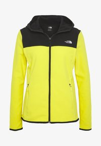 The North Face - WOMENS GLACIER FULL ZIP HOODIE - Fleecetakki - lemon/black - 4